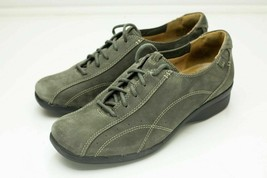 Clarks Unstructured 8 Gray Lace Up Women's Shoe - $42.00