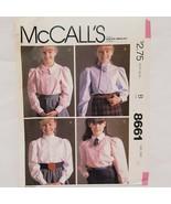 Shirts Long Sleeve Girls Size 10 McCall Sewing Pattern 6881 Uncut 1983 V... - $15.99