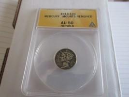 1916 , Winged Liberty Head (Mercury) Dime, Mercury Mounts Removed , AU 5... - $75.00