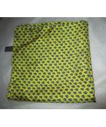 "Rizzi Szoke silk blue bird yellow pocket square 17"" sq hand rolled edge ... - $39.59"