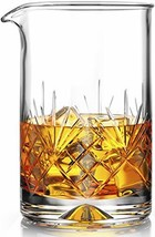 Crystal Cocktail Mixing Glass - Thick Weighted Bottom - 18oz 550ml - Pre... - $22.72