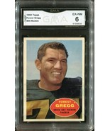 1960 Topps Football Forest Gregg #56 (Rookie) Green Bay Packers (GMA EX-... - $79.19