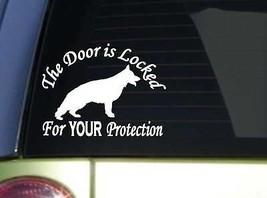 Door is locked GSD J120 6x6 inch sticker schutzhund decal - $4.47