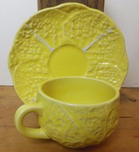 Vintage Secla Cabbage Yellow Cup and Saucer - $12.00