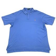 Ralph Lauren pour Hommes Bleu Polo Taille XL Ourlet Haut/Bas Queue de Ch... - $17.76