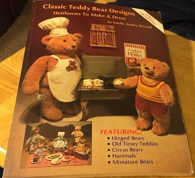 Classic Teddy Bear Designs by Worrell Pb 1988