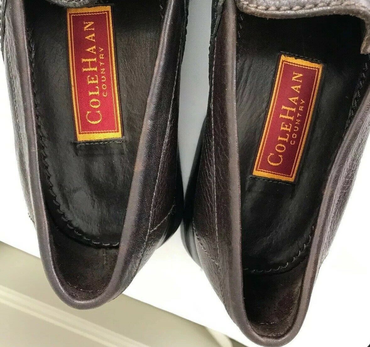 Cole Haan Men's Size 9M Country Brown Leather Loafers Driving Mocs Shoes image 8