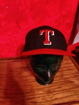 New Era Texas Rangers ALT 59Fifty Fitted Hat Black MLB Cap, Size 7 5/8 A22 - £4.97 GBP
