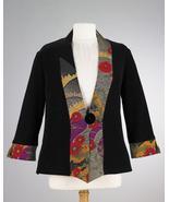 Smithsonian Asian Fan Kimono Jacket Black - $69.99