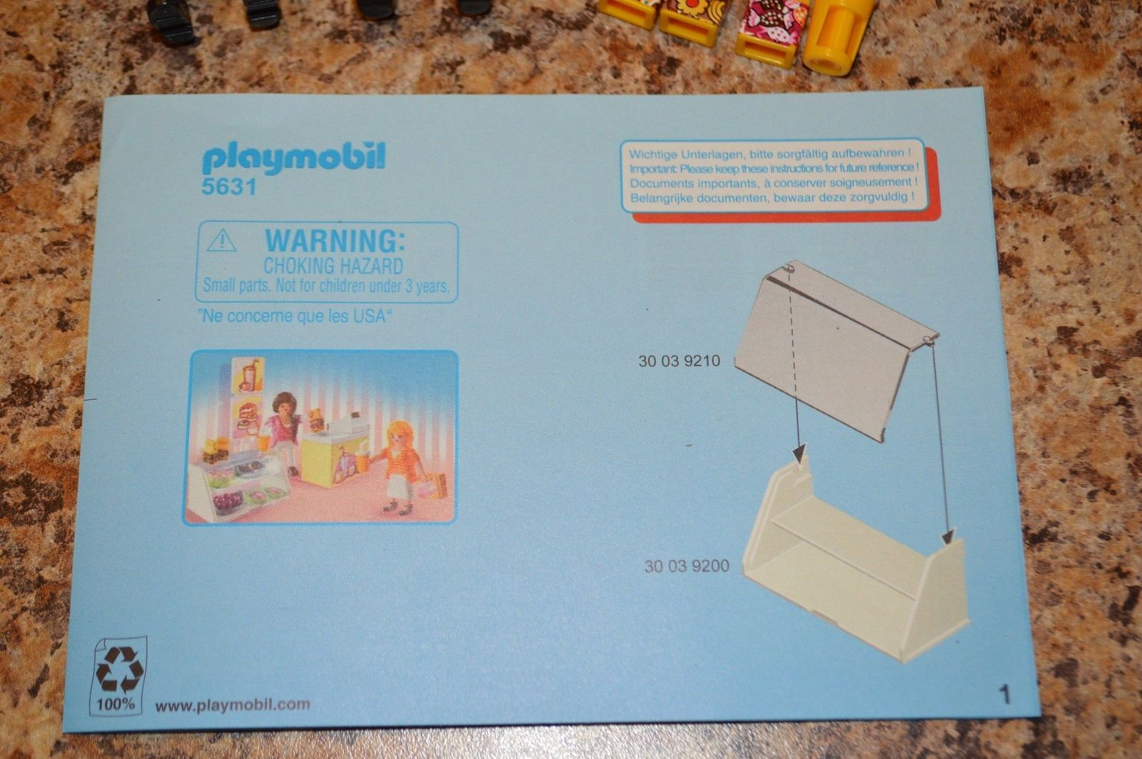 Playmobil City Life Sweet Shop Food Carry Case Take Along (5631)