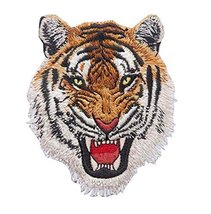 DIY Embroidered Iron On/Sew On Badge Applique Patch Tiger - $11.94