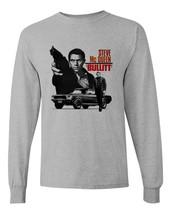 Bullitt Steve McQueen Long Sleeve T-shirt 1960's car movie ford Mustang gray image 1