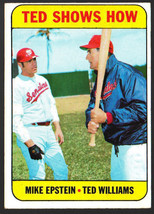 1969 Topps #539 Ted Shows How (Ted Williams/Mike Epstein)Ex/Mt - $5.95