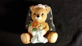 "Wedding Teddy Bear Porcelain Figurine ""Bride Bear"" HOMCO - $10.00"