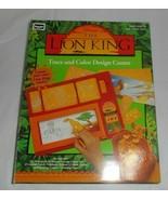 VINTAGE 1994 ROSEART DISNEY THE LION KING TRACE & COLOR DESIGN CENTER #1... - $28.05