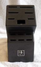 J A Henckles International Graphite Black Knife Block 13 slots NO KNIVES - $34.60