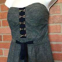 Womens Guess Sun Dress M Strapless Blue (S58) - $19.79