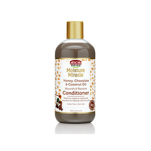African Pride Moisture Miracle Honey Chocolate Nourish Restore Conditioner 12oz image 1
