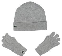 Lacoste Kids Cotton & Cashmere Jersey B EAN Ie & Gloves, Light Grey Size S Bnwt - $49.75