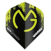 Winmau Mega MVG Black and Green Standard Dart Flights - $1.75