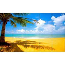 Beach Photo Tile Murals BZ30001. Kitchen Backsplash Bathroom Shower Wall Murals - $150.00+