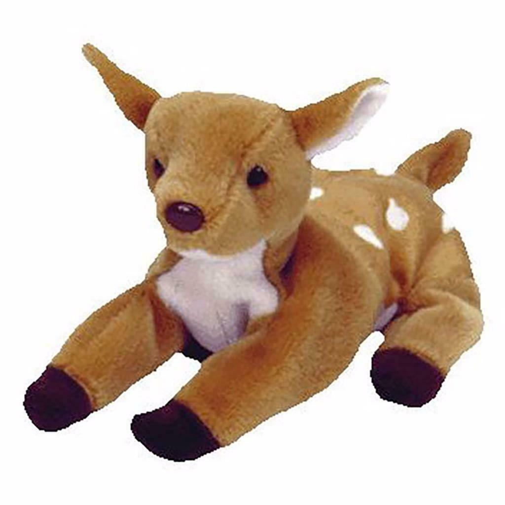 Whisper Dear Fawn Retired Ty Beanie Baby Mint Condition with Tags Collectible