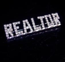 Vintage Realtor Brooch - Rhinestone Realtors gift - graduation gift - si... - $85.00