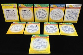 Hot Iron Transfers Aunt Marthas 10 Assorted Packages For Embroidery Need... - $19.75
