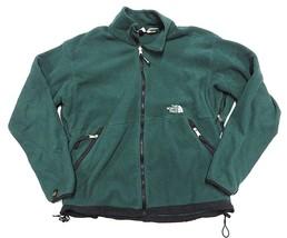 VTG The North Face Green Outerwear Jacket Fleece Pullover 1/4 Zip Men's ... - $69.25