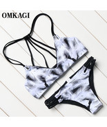 OMKAGI Brand Bikinis Set Swimwear Women Swimsuit Swimming Beachwear - $21.98+