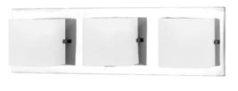 "Eurofase E19425016 ""Illuminations"" 3 Bulb Bathroom Light Opal White - $42.75"