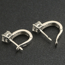 2018 New Arrival Korean Style Best Friends Silver Color Earrings U Shape Stud image 3