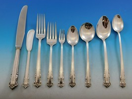 English Shell by Lunt Sterling Silver Flatware Set Service 84 pcs M Monogram - $3,995.00