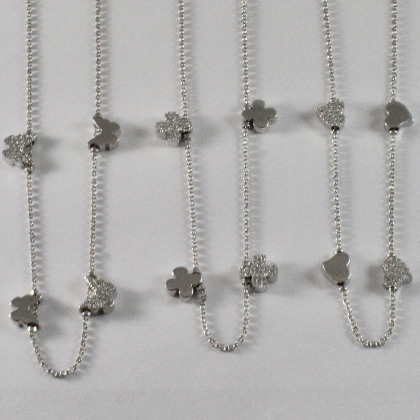 NECKLACE 925 SILVER JACK&CO WITH FOUR-LEAF CLOVER HEART 0,5 BUTTERFLY
