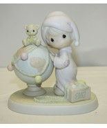 Precious Moments 522082 May Your World Be Trimmed With Joy by Enesco 1991 - $16.82
