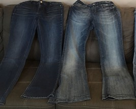 Womens Lot ReRock For Express Flare  White House Black Market Jeans Size 6 - $13.99