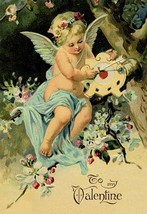 Floating Angel With Clock - Art Print - $19.99+