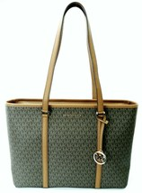 Michael Kors Sady Brown Monogram PVC Shopper Tote Bag Large Handbag RRP ... - $310.39