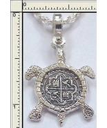 Atocha Coin Sea Turtle Silver Pendant Key West Treasure Ocean Dive Mel F... - $46.75