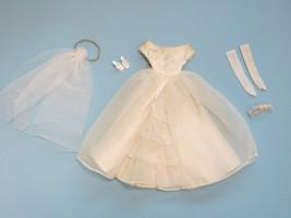Vintage Barbie Bride's Dream Wedding Outfit #947 1960s Bride Dress Veil Gloves + - $28.00