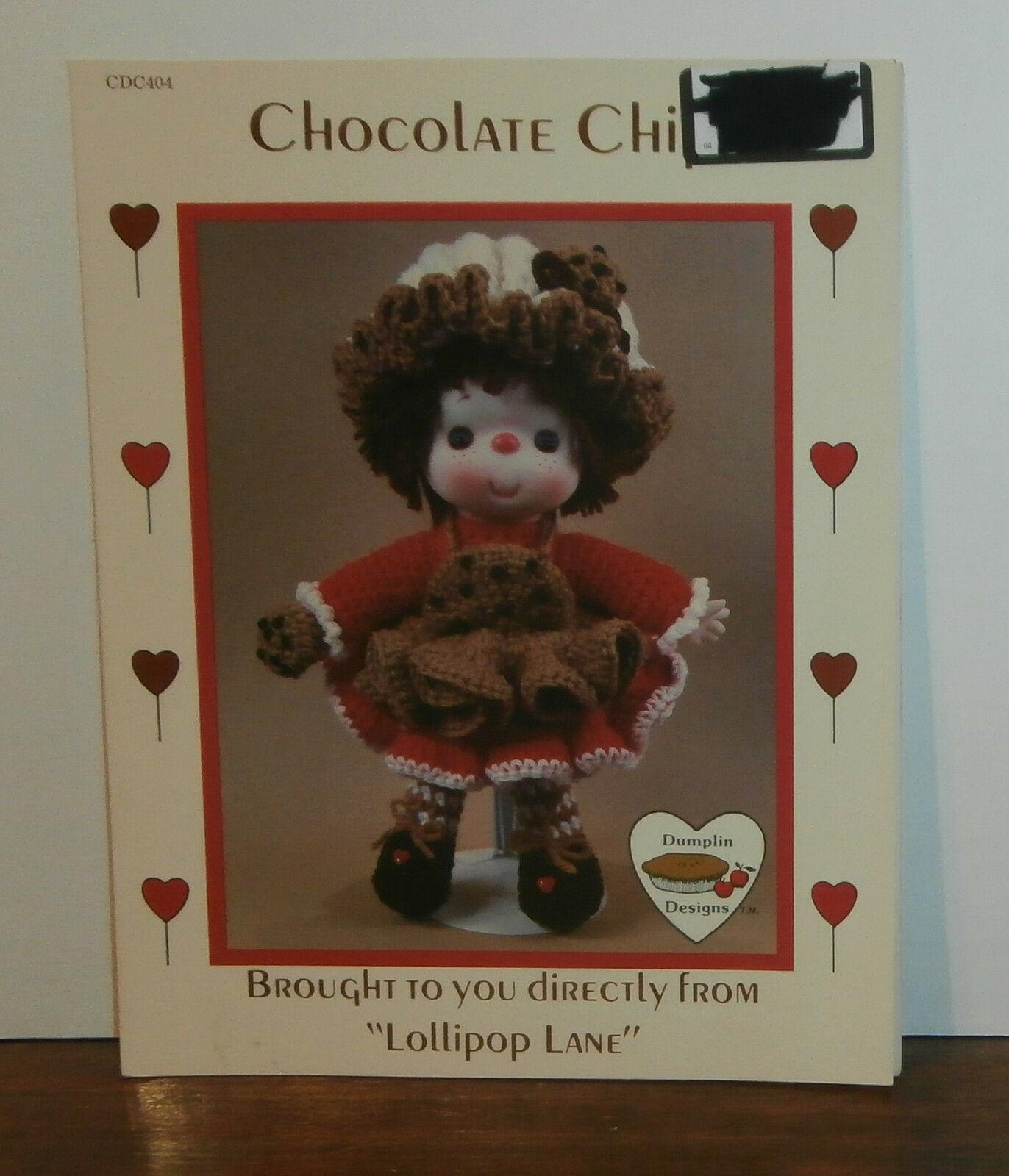 Chocolate Chip Doll Lollipop Lane Dumplin Designs Crochet Pattern Leaflet - $6.89