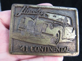 RARE Lincoln Continental 1941 '41 belt buckle coupe vintage SOLID BRASS  - $23.36