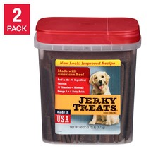 Jerky Treats Dog Snacks American Beef  60 oz 2 Pack - $51.99