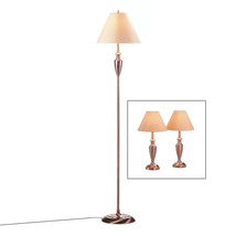 Lamp Sets Of 3 For Living Room, Table Lamp Set Modern With Cord - Metal,... - $126.79