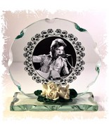 David Bowie B & W Cut Glass Round Plaque Frame Memories Ltd Edition Uniq... - $33.65