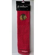 Chicago Blackhawks NHL RED Tri-Fold Embroidered Golf Towel,Officially Li... - $13.78