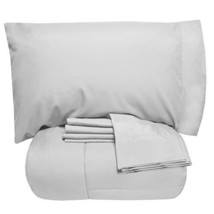 Sweet Home Collection 7 Piece Comforter Set Bag Solid Color All Season S... - $47.41