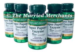 Nature's Bounty Super Papaya Enzyme 45 mg 90 tablets ea 11/2022 FRESH! - 5 pack - $34.99