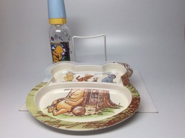 Classic Pooh Plate & Bottle Set. Brand New! - $12.95