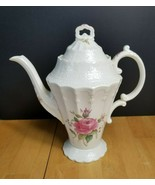 Copeland Spodes Billingsley Rose Pink Coffee Pot Old Backstamp 5 Cup - $98.01